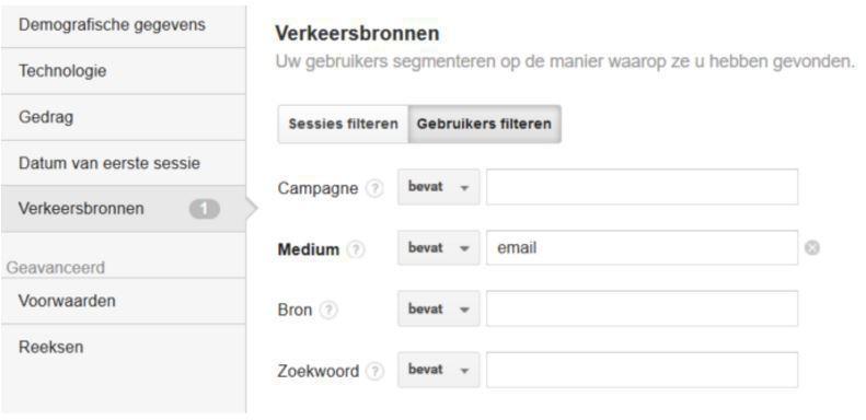 custom segment filter analytics besite