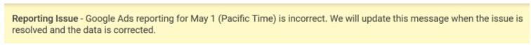 google ads rapportage bug